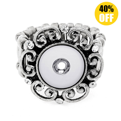 Bohemia Snap Button Ring Fit 12mm Snap Button for women LSNR12MM07