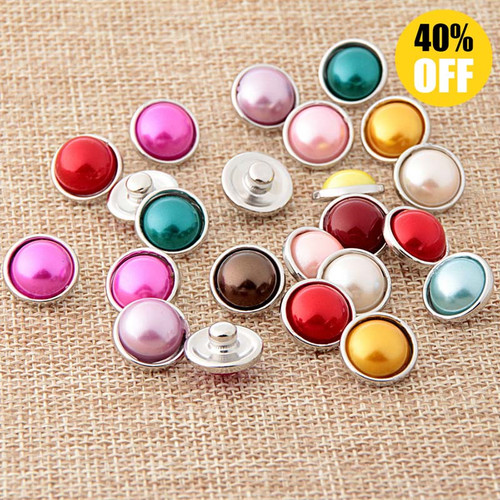 12mm Colorful Stone Snap Button Jewelry Fit Snap Button Bracelet LSSN12MM40