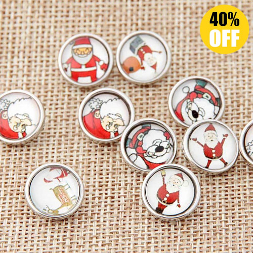 12mm Santa Claus Wholesale Snap Jewelry Supplies For Woemn LSSN12MM61