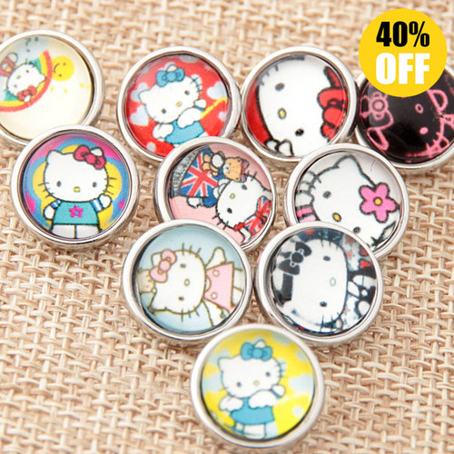 12mm Cat Wholesale Snap Jewelry Supplies For Woemn LSSN12MM65