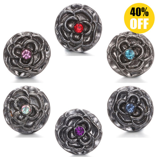 12MM Vintage Flower wholesale snap button jewelry For Women LSSN12MM21