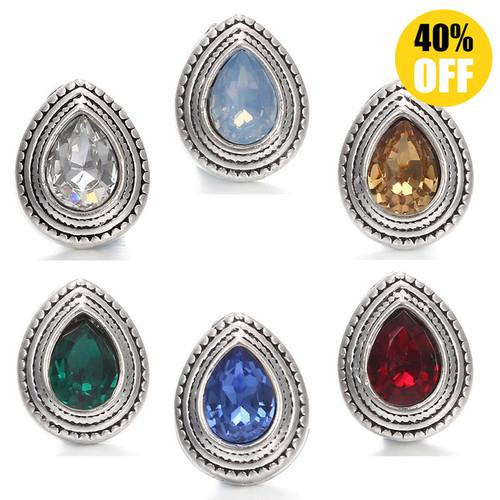 5pcs/lot Waterdrop 12mm Snap Jewelry Wholesale Fit Snap Button Bracelet LSSN12MM33