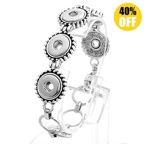 Fashion snap bracelets wholesale For Women Fit 12mm Snap Button Charms
