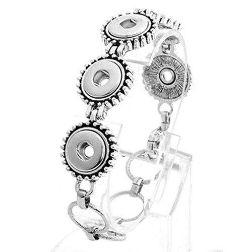 Fashion snap bracelets wholesale For Women Fit 12mm Snap Button Charms LSNB12MM03