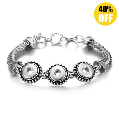 Fashion Diy Snap Bracelet Fit 12mm Snap Button Charms LSNB12MM05