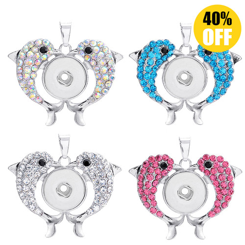 Dolphin Snap Jewelry Pendants LSNP102