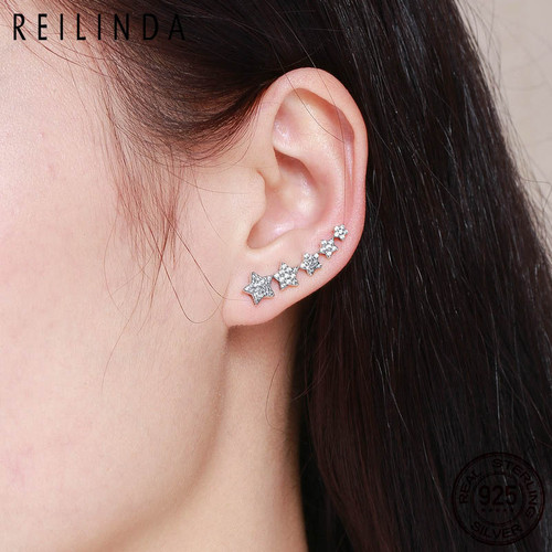 44617cb8e ... Authentic 100% 925 Sterling Silver Stackable Star Luminous CZ Drop  Earrings for Women Sterling Silver ...