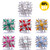 18MM Pretty Flowers Snap Button Charms LSSN1131