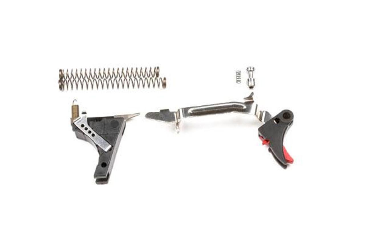 ZEV Tech Adjustable Fulcrum Trigger Drop-In Kit, 1st-3rd Gen, 9mm (Black/Red)