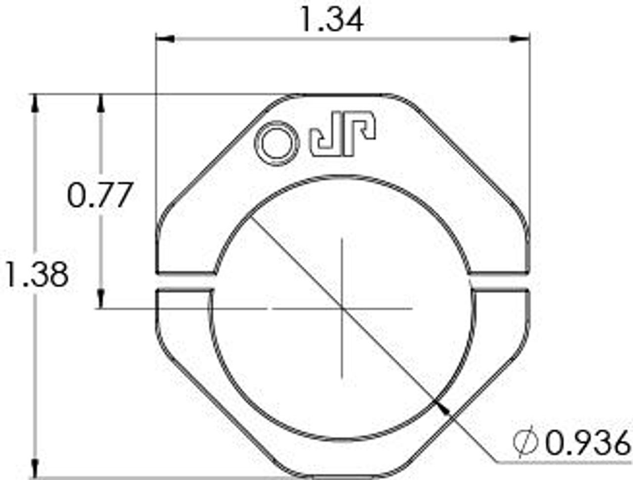 JP Enterprise .936 Adjustable Gas Block