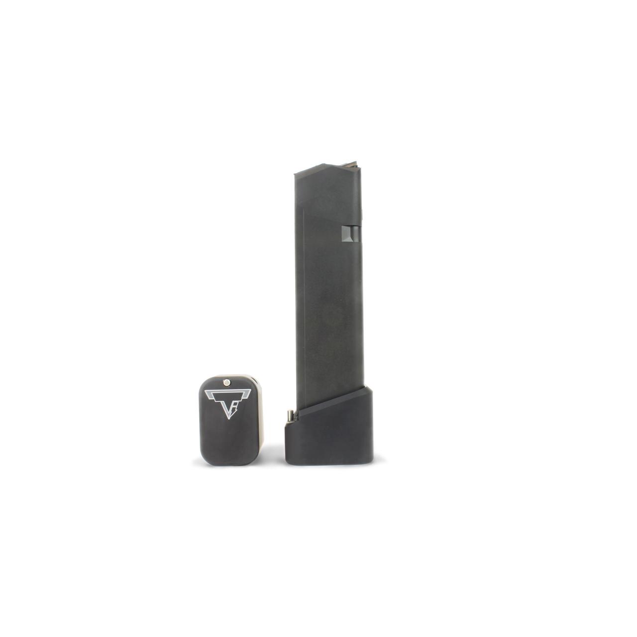 Taran Tactical +5/6 Base Pad Kit for Standard Sized Glocks 9/40 - Flat Black