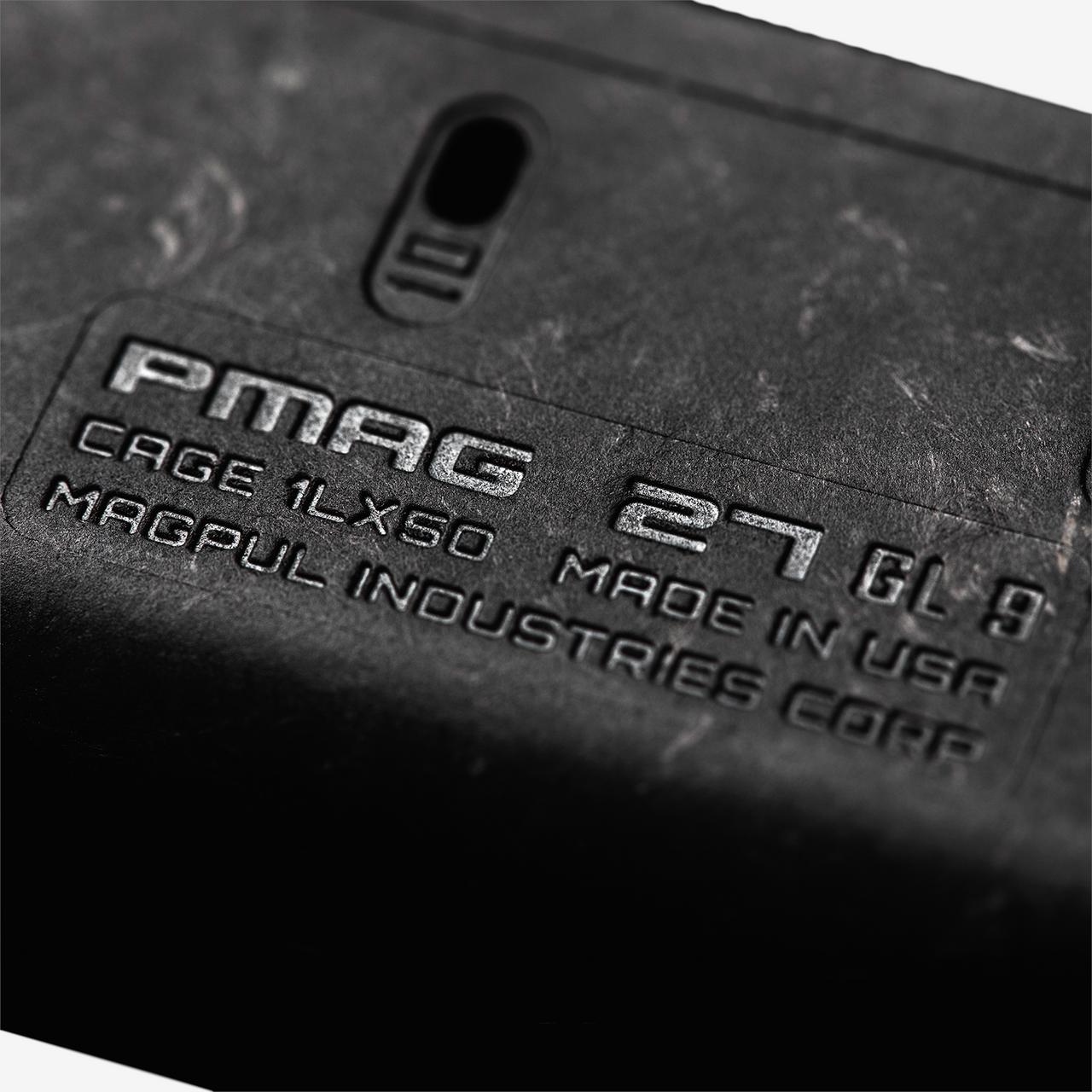 Magpul PMAG 27 GL9 Glock 9mm 27/10-Round Magazine