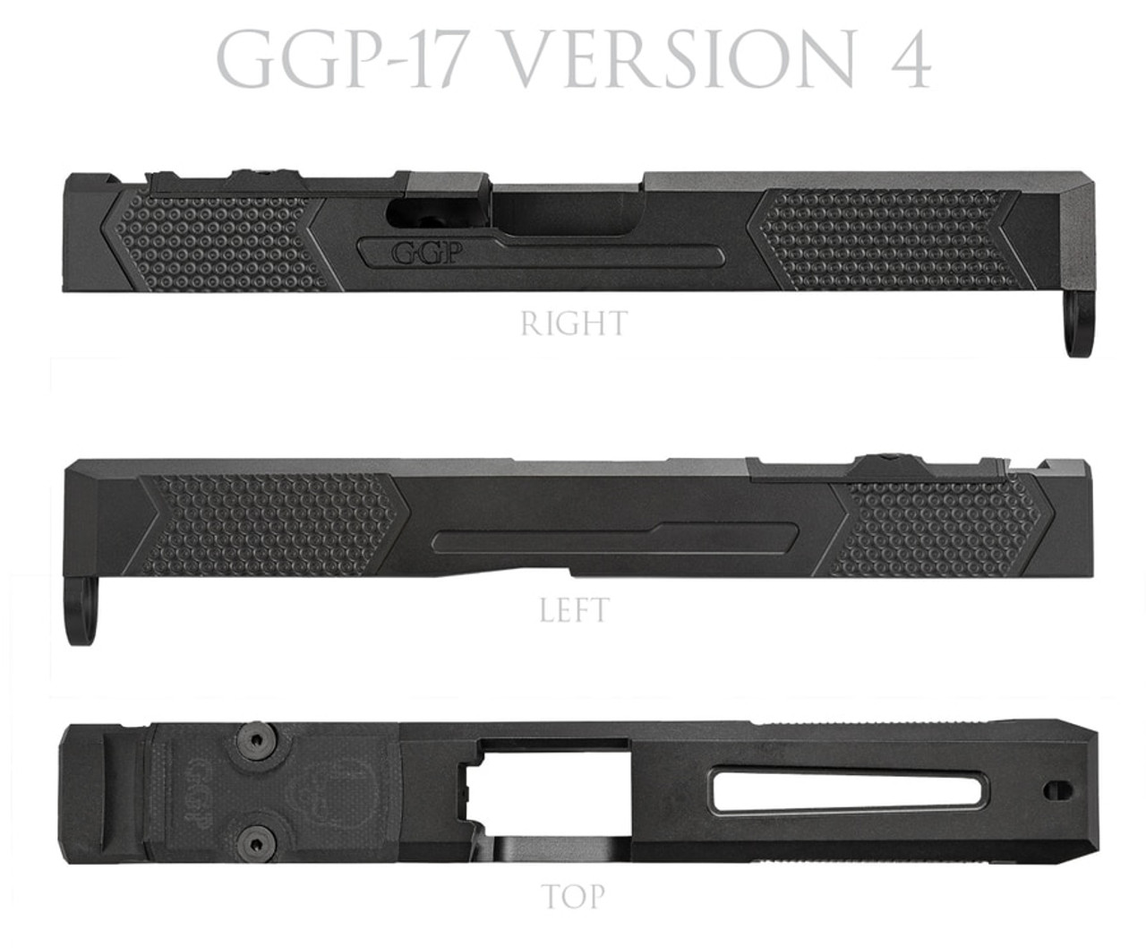 Grey Ghost Precision G17 Gen 3 Stripped Slide V4 (RMR / DPP)