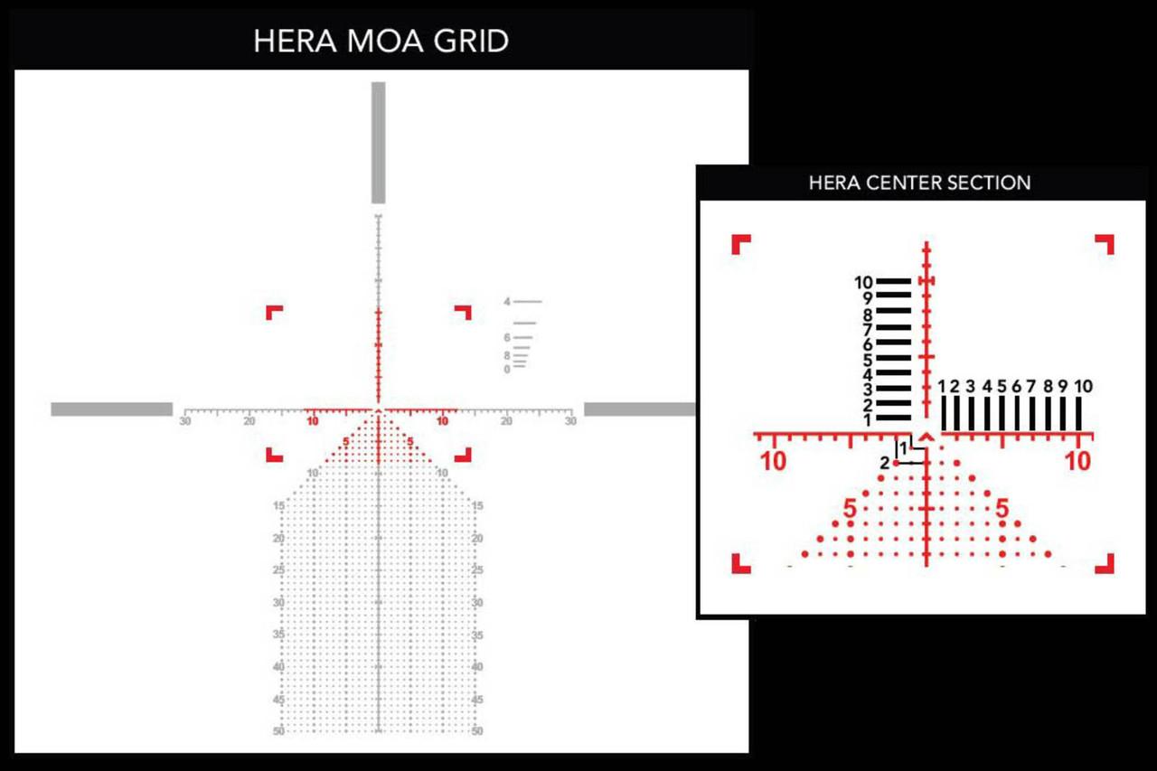 Primary Arms PLx 6-30x56mm FFP Rifle Scope - Illuminated Hera BPR MOA Reticle