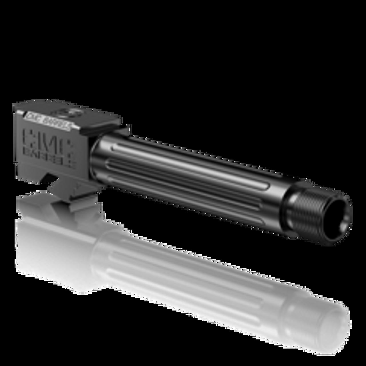 CMC Glock 19 Fluted Threaded 9mm Barrel (DLC Black)
