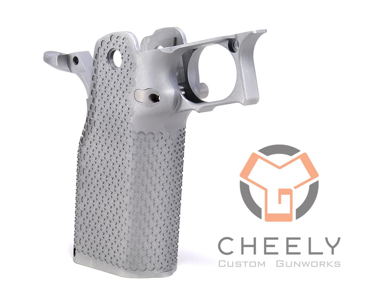 Cheely Custom Gunworks E2 Aggressive Grip Kit - Stainless