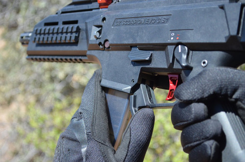 HB Industries CZ Scorpion EVO3 Duckbill Mag Release Lever