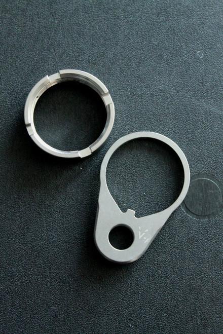 V Seven Titanium QD End Plate & Castle Nut Combo Pack