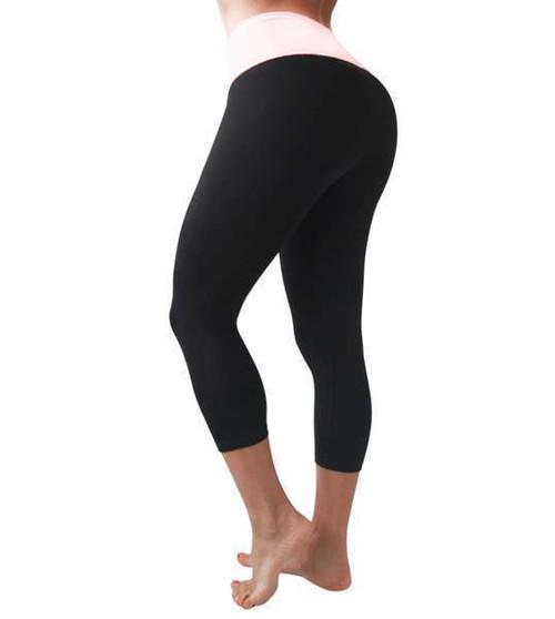 5a5944af0c Oh-La-Leggings Black Light Pink Body Shaping Leggings by Bon Bon Up 1051