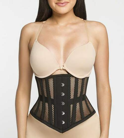 3621127b15 Underbust Waspie Mesh Corset by Hourglass Angel HA201