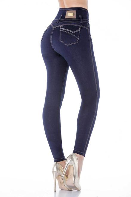 2dc20649a Dark Skinny Butt-Lifting Jeans by Bon Bon Up 3807