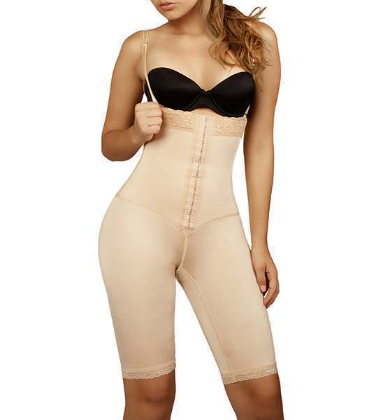 62dfd2cccbd2e Full Body Shaper Strapless and Mid Thigh by Vedette 135
