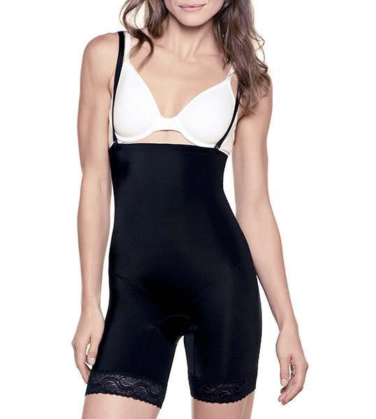 Best Shapewear Mid-Thigh Bodysuit by Amia A107