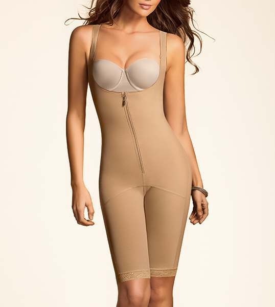 37be212be781c Amazing Shape Open-Bust Mid-Thigh Compression Bodysuit by Leonisa 018688