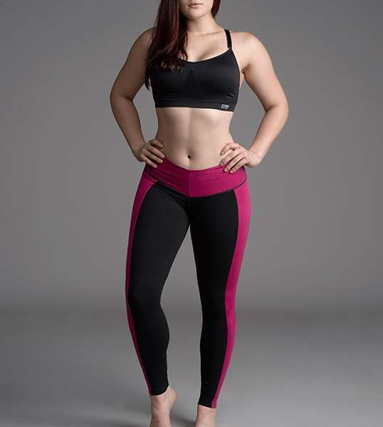 where to buy exquisite style 2019 clearance sale Slimming Black & Pink Leggings by Bon Bon Up 1064