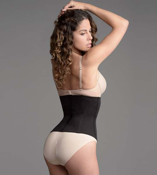 b88ff3143d8 Firm Control Cotton Waist Cincher by Flakisima · Black