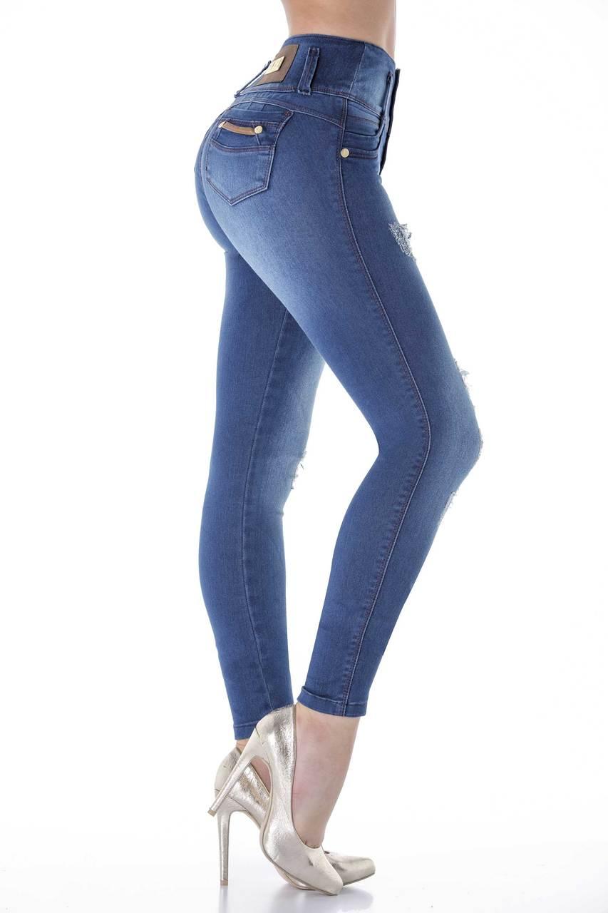 a8def2de181 Light Rip Butt-Lifting Jeans by Bon Bon Up 3805 - Hourglass Angel