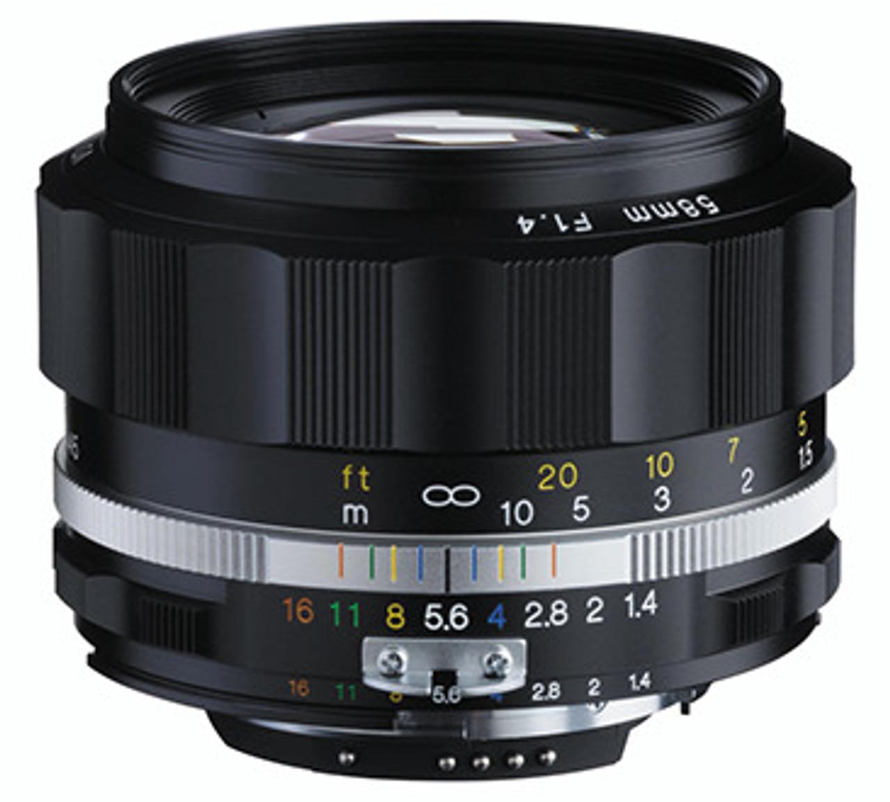 Voigtlander 58mm f/1 4 SL II N - S Nokton (Black Rim) - Nikon F Mount