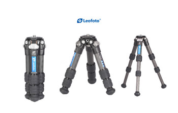 Leofoto LS-223C+EB-36 22mm 3 Section Compact Carbon Fibre Tripod w/ Ballhead