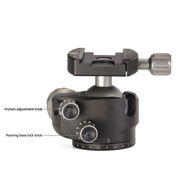 Leofoto LH-40 40mm Leofoto Low Profile Ball Head with QP-70 Plate-40