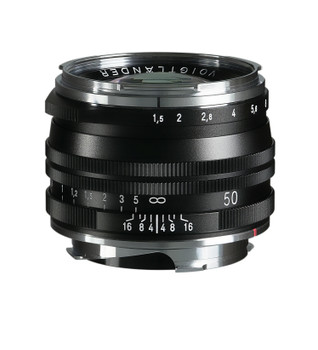 Voigtlander NOKTON Vintage Line 50mm f/1.5 Aspherical II MC Lens (Black) - Leica M Mount (Order Now for Pre Christmas Delivery)