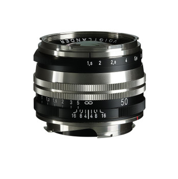 Voigtlander NOKTON Vintage Line 50mm f/1.5 Aspherical II MC Lens (Nickel) - Leica M Mount (Order Now for Pre Christmas Delivery)