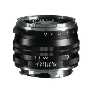 Voigtlander NOKTON Vintage Line 50mm f/1.5 Aspherical II SC Lens (Black) - Leica M Mount
