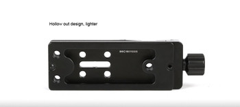 SunwayFoto DMP-100R Multi-Purpose Rail Nodal Slide with Screw-knob Clamp (Open Box Special)