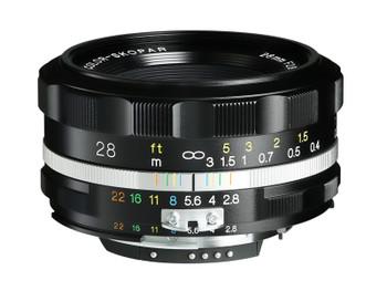 Voigtlander COLOR-SKOPAR 28mm f/2.8 SL IIs Aspherical Lens (Black Rim) - Nikon F Mount