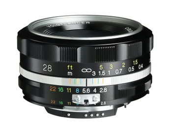 Voigtlander COLOR-SKOPAR 28mm f/2.8 SL IIs Aspherical Lens (Silver Rim) - Nikon F Mount (Special Order 14-21 Days)