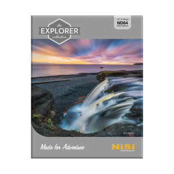 NiSi Explorer Series 100x100mm Nano IR Neutral Density filter - ND64 (1.8) - 6 Stop