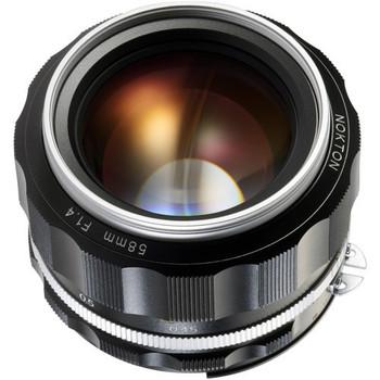 Voigtlander 58mm f/1.4  SL II N - S Nokton (Silver Rim) - Nikon F Mount