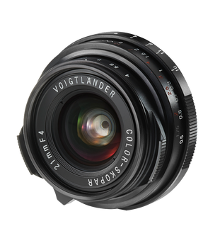 Voigtlander 21mm f4.0 Color Skopar Pancake Lens - Leica M Mount (availability 7-21 days)
