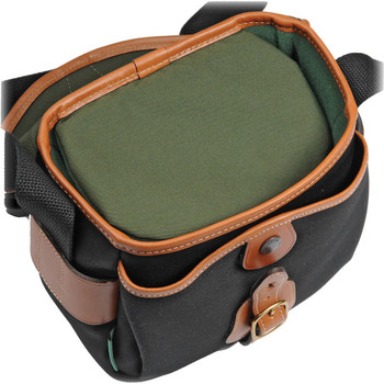 Billingham Hadley Digital Black Canvas with Tan Leather