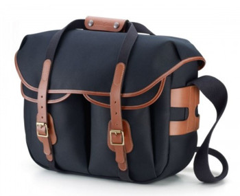 Billingham Hadley Large Pro Black Canvas with Tan Leather