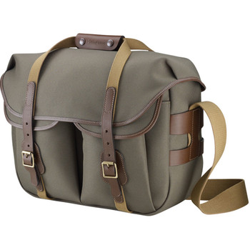 Billingham Hadley Large Pro Grey Canvas with Black Leather