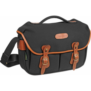 Billingham Hadley Pro Black Canvas with Tan Leather