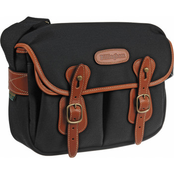 Billingham Hadley Small Black Canvas with Tan Leather
