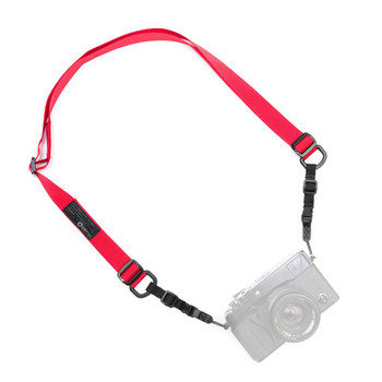 DSPTCH Camera Sling Strap - Standard width, adjustable with quick release. Red colour