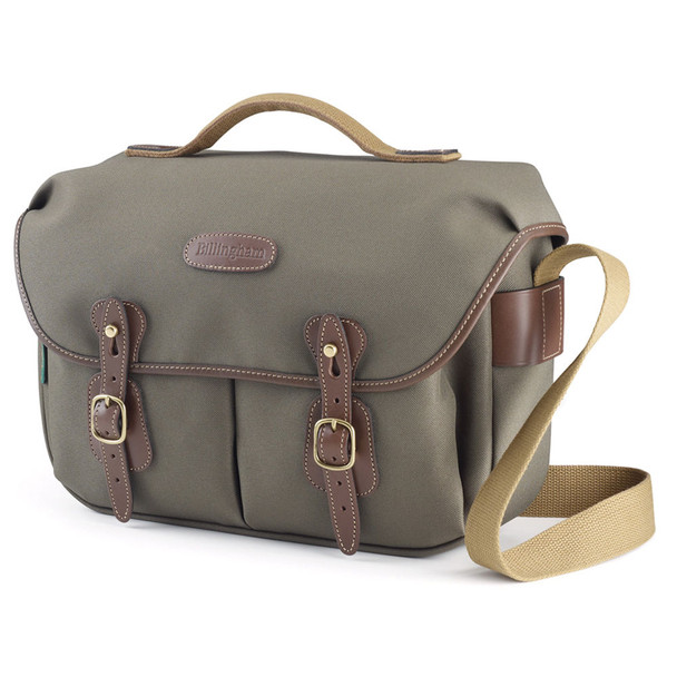 Billingham Hadley Pro Sage FibreNyte with Chocolate Leather